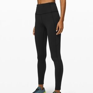 Lululemon Fast and Free Brushed Nulux Leggings 28""